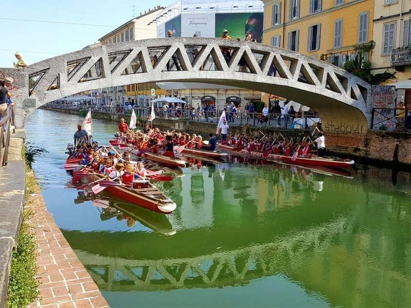 Gita scolastica a Milano con la Canottieri San Cristoforo